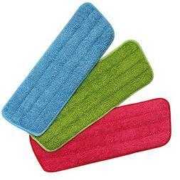 Homgaty 3 Pack Microfiber Dust Mop Washable Pads Cleaning Mo