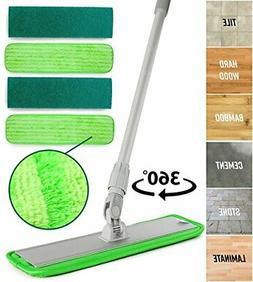 Microfiber Mop Hardwood Floor Cleaning - Washable Pads Perfe
