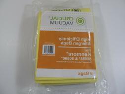 New 9 Crucial Vacuum Allergen Sweeper Bags Kenmore 50688 & 5
