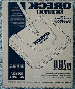 Oreck Hoky PR3000  PR3200 Sweeper Hoky Restaurateur Push Swe