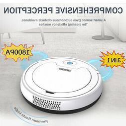 Robotic Vacuum Cleaner 1800Pa Intelligent Sweeper Robot Auto