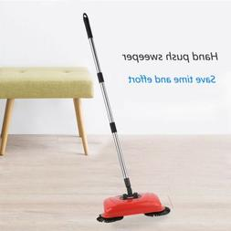 Spin Hand Push Sweeper Broom Household Floor Cleaning Mop wi