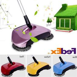 Spin Hand Push Sweeper Broom Household Floor Dust Cleaning M