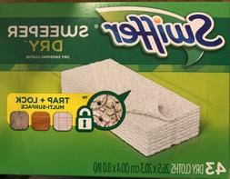 Swiffer Sweeper Dry Sweeping Refills 43 Cloths New ! ~ QUICK